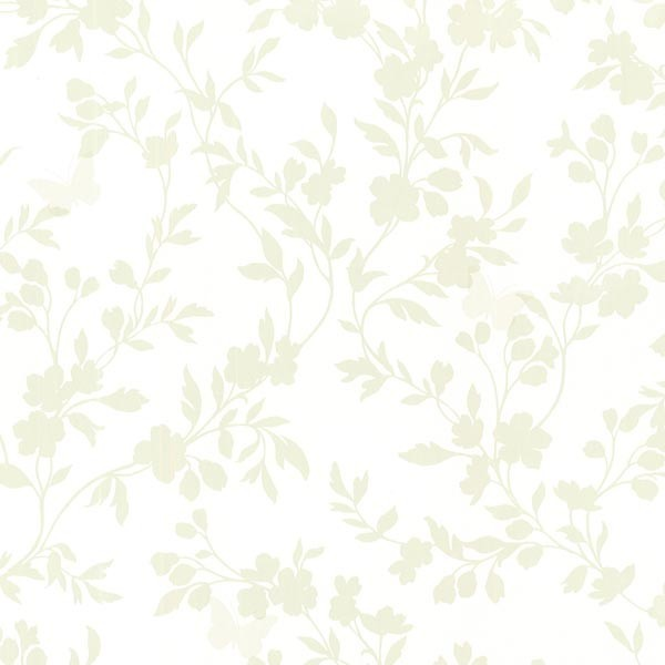 Layla Light Green Floral Trail Silhouette Wallpaper Bolt