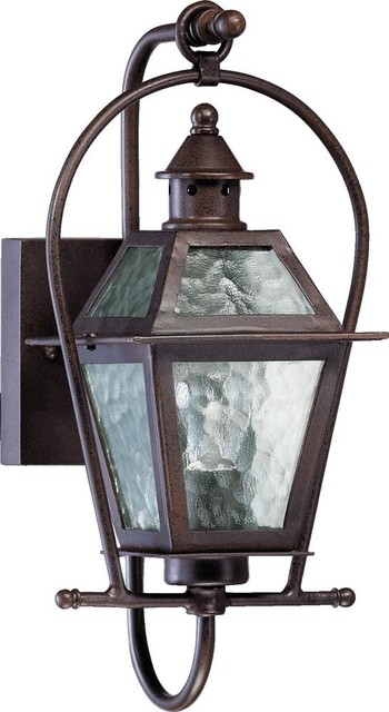 Storm Lantern Wall Lights : One Light Oiled Bronze Clear Hurricane Glass Wall Lantern - Transitional - Outdoor Wall Lights ...