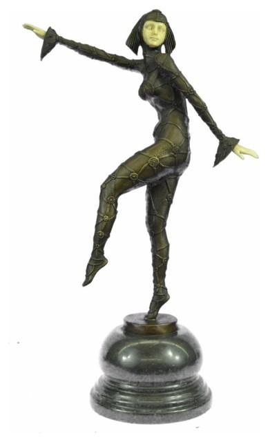 Art Deco Chiparus Belly Dancer Bronze Figurine Hot Cast Statue Sculpture Sale