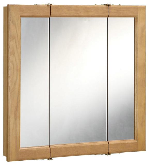 "Richland 24"" Tri Medicine Cabinet Nutmeg Oak Finish - Transitional - Medicine Cabinets - by ..."