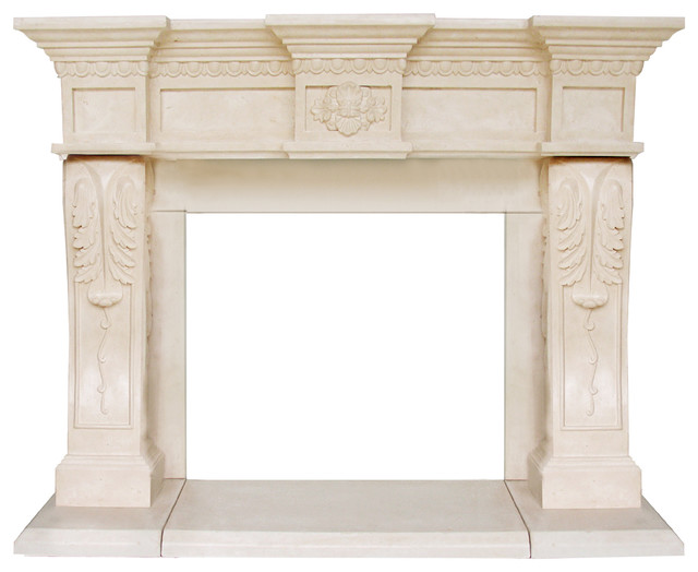 President Series Oxford Cast Stone Fireplace Mantel.