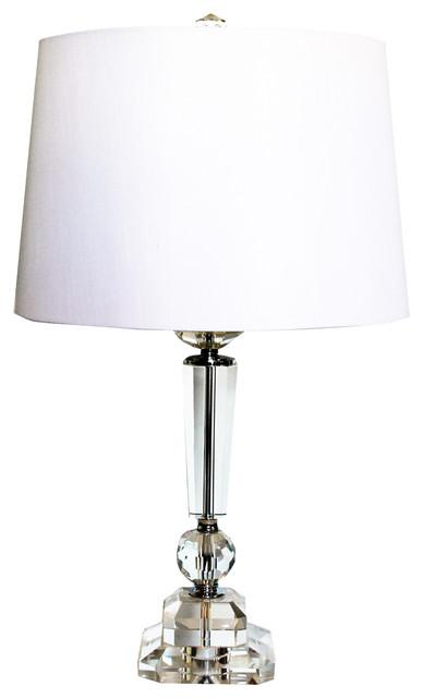 Regency Crystal Table Lamp.