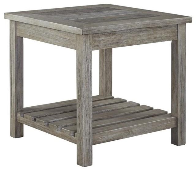 Ashley Veldar Square End Table, Whitewash.
