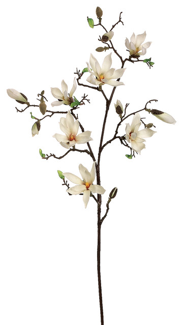 Silk Plants Direct Magnolia Tree Branch Pack Of 4