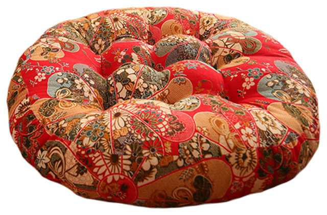Chinese Style Round Chair Cushion Floor Seat Pad Thick Pillow A