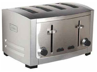 All Clad TJ804D 4 Slice Toaster Contemporary Toasters by
