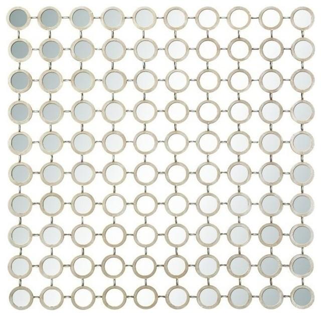 "Allison Metal Mirror Wall Panel, 40""x40""."