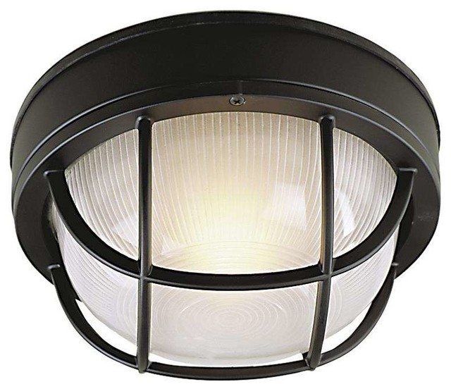 Craftmade Z394 05 Bulkhead Outdoor Ceiling Light, Matte Black Transitional  Outdoor Flush