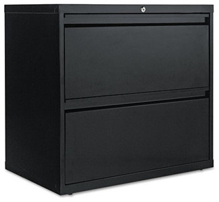 "Two-Drawer Lateral File Cabinet, 30""x19-1/4""x28-3/8"", Black - Contemporary - Filing Cabinets ..."