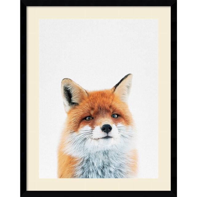 Framed Art Print \'Fox\', Tai Prints, 23\