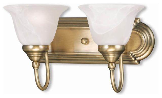 best sneakers 97248 21289 2-Light Antique Brass Bath Light