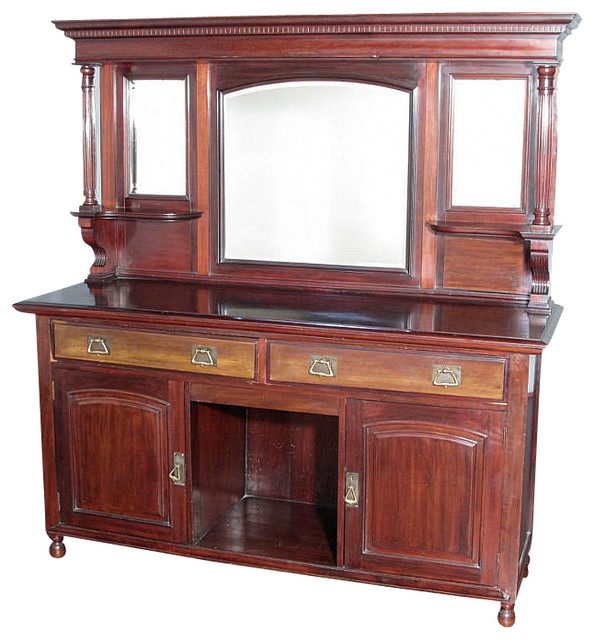 Antique Mahogany Regency Buffet Sideboard Server - Traditional ...