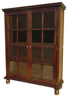 Mahogany Library Cabinet - Traditional - Bookcases - by D-Art Collection, Inc
