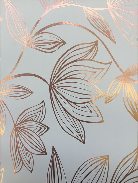 Metallic Wild Magnolia Wallpaper White Metallic Copper Metallic