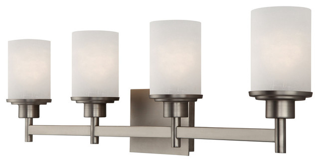 Seeded Glass Bathroom Light Satin Nickel Dolan Designs: Canarm Lyndi Vanity With Etched Glass In Brushed Nickel