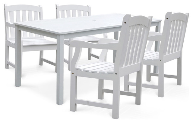 Bradley Rectangular Table And Armchair Outdoor Wood Dining