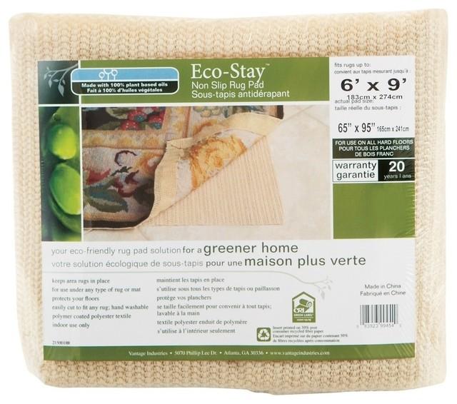 Vantage Eco-Stay Nonslip Rug Pad, 6&x27;x9&x27;.