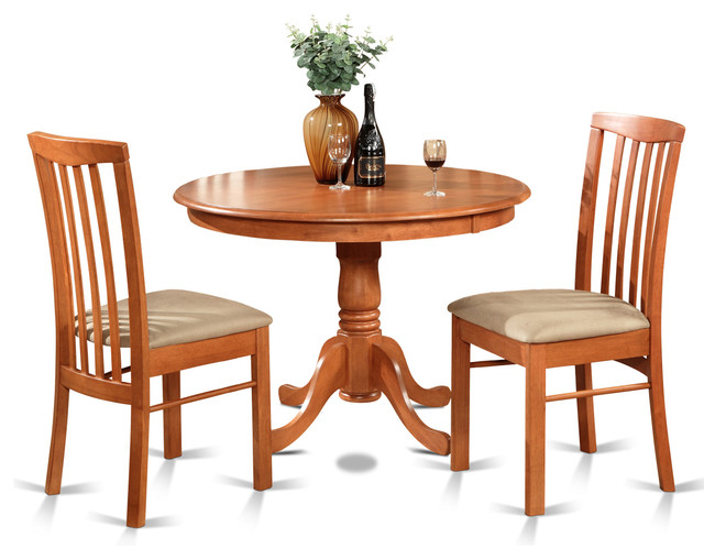 Shop houzz east west furniture hart chr kitchen table for Traditional kitchen table sets