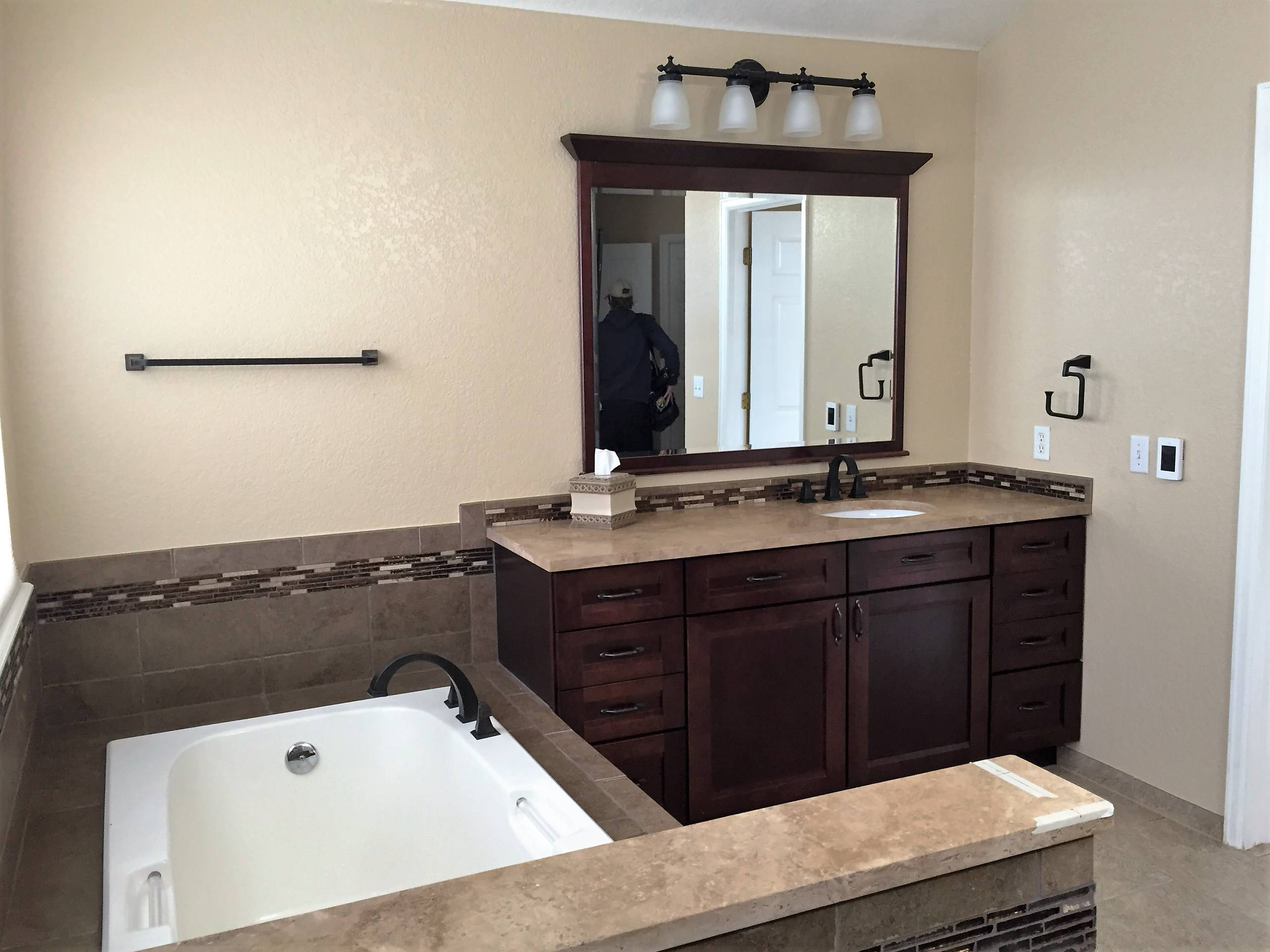 His and Hers Master Bathroom and Vanities