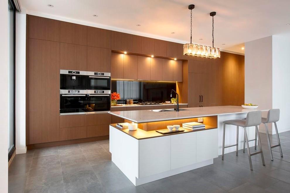 Home design - transitional home design idea in Melbourne