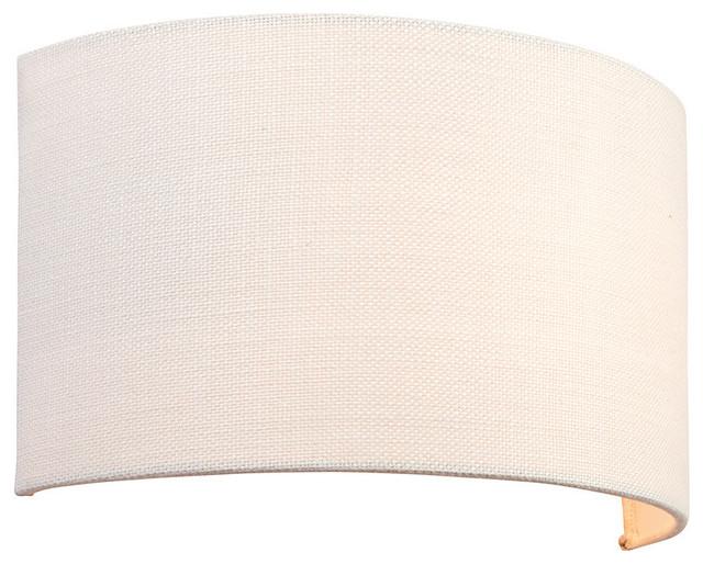 Endon Obi Wall Light, White