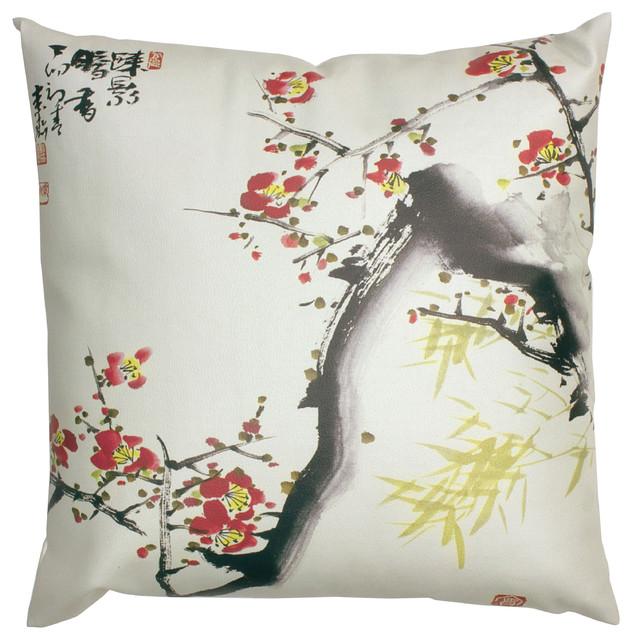 Cherry Blossom Pillow Asian Decorative Pillows By Oriental Cool Oriental Decorative Pillows
