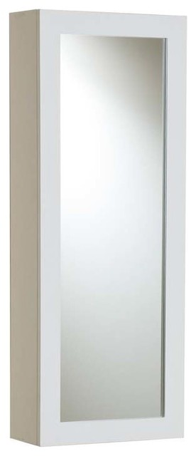 "Sei Clara Wall Mount Ironing Center, White, 42""x16""x7""."