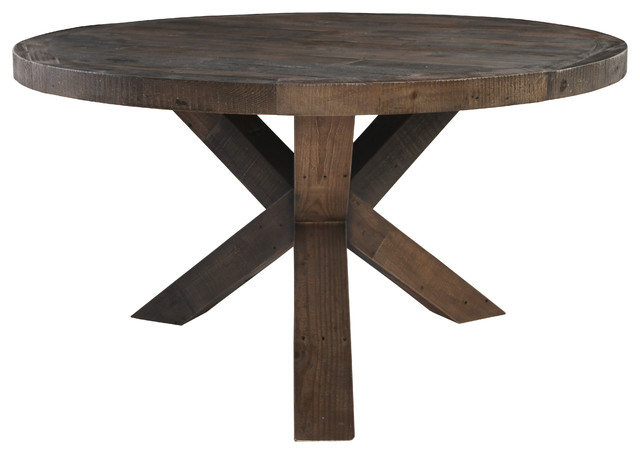 Weisor Round Reclaimed Pine Dining Table by Kosas Home