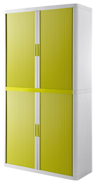 "Paperflow EasyOffice Storage Cabinet, 80"" Tall With 4 ..."