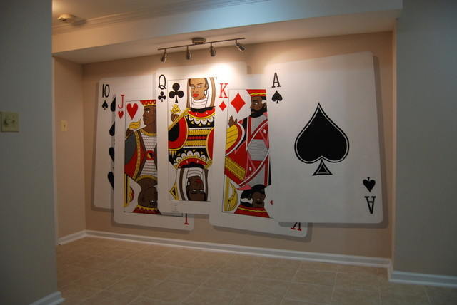 Amazing Poker Playing Cards Wall Murals Hand Painted By Tom Taylor Of Wow Effects  Eclectic Part 11