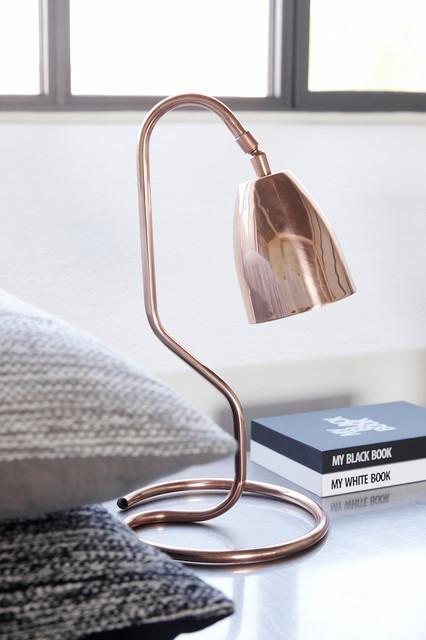 tischleuchte 40cm kupfer scandinavian dresden by myadele online ug. Black Bedroom Furniture Sets. Home Design Ideas
