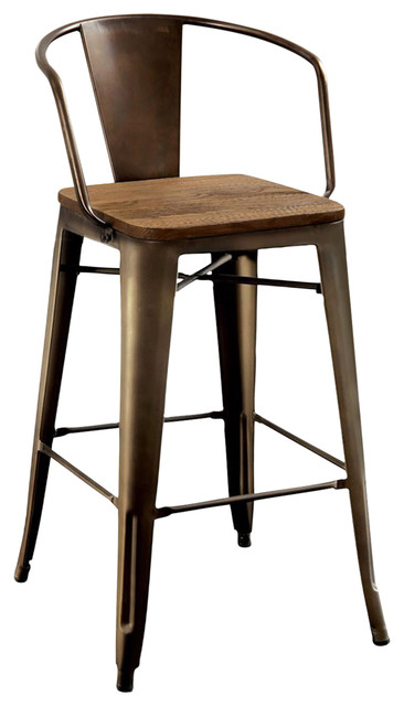 Cooper Ii Industrial Chair, Natural Elm Finish, Set Of 4.