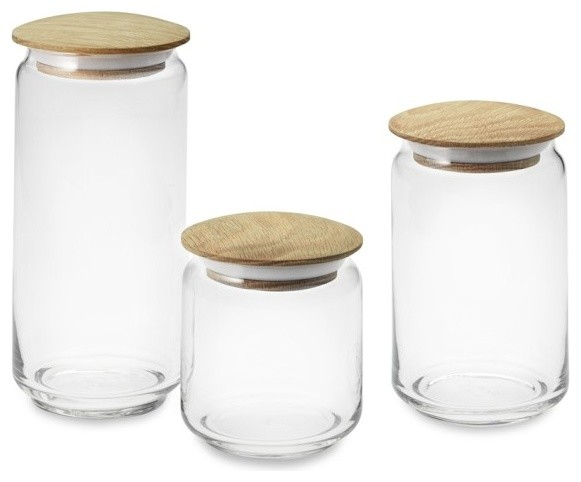 kitchen glass canisters with lids glass canisters with wood lids modern kitchen canisters and jars by williams sonoma 1357