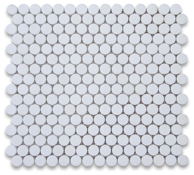 12 x12  Thassos White Penny Round Mosaic Tile Honed  Chip Size  3. 12 x12  Thassos White Penny Round Mosaic Tile Honed  Chip Size  3