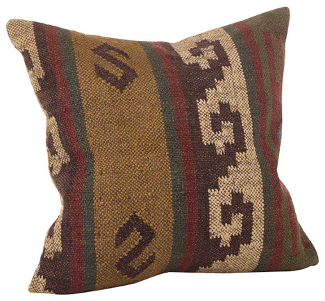 Kilim Collection Design Down Filled Throw Pillow - Southwestern - Decorative Pillows - by Fennco ...