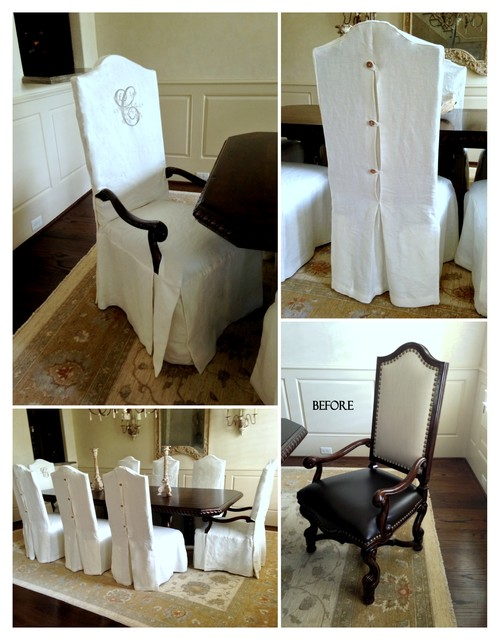 Dining Chair Slipcovers Traditional Houston By Ls