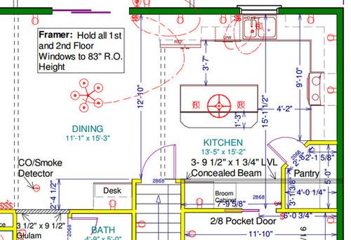 sc 1 st  Houzz & Lighting layout for kitchen?