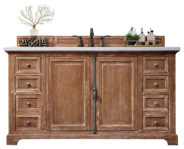 60 Inch Distressed Bathroom Vanity Single Sink Choice Of Top Farmhouse Farmhouse Bathroom Vanities And Sink Consoles By Unique Online Furniture Houzz