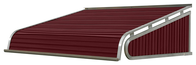 "1500 Series Aluminum Door Canopy 96""x30"" Projection, Burgundy."