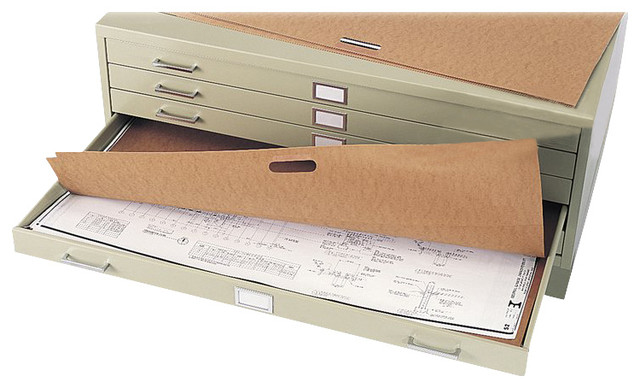 Safco Flat Files Metal File Portfolio (Set of 10) - Transitional - Filing Cabinets - by Homesquare