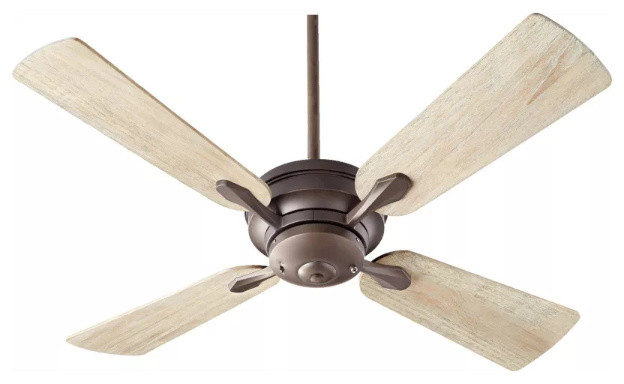 "Quorum International 81524 Valor 52"" Sweep 4 Blade Indoor Ceiling Fan, Oiled Bro."