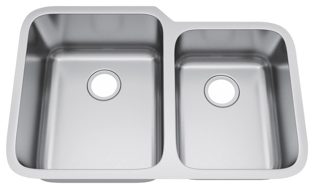 32 X21 Double Bowl 60 40 Undermount Stainless Steel Kitchen Sink Without