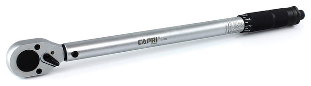 Capri Tools 10-150 Foot Pound Torque Wrench, 1/2 Drive.