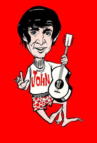 The Beatles John Lennon 1965 Promotional Caricature Poster Contemporary Prints And Posters By Poster Rama