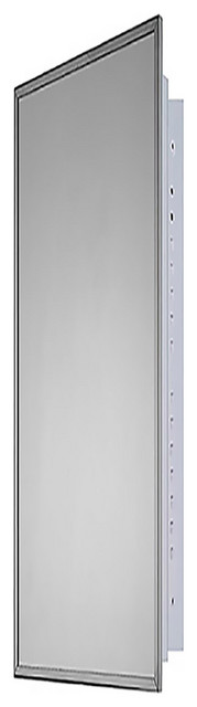 """Deluxe Series Medicine Cabinet, 18""""x60"""", Stainless Steel Frame, Recessed"""