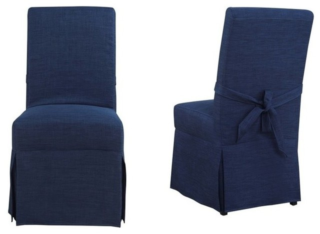 Picket House Furnishings Margo Parsons Dining Chair in Blue (Set of 2)