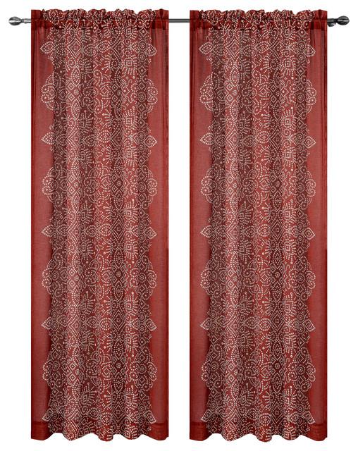 Urbanest Bandhini Drapery Curtain Panels Southwestern Curtains By Urbanest Living