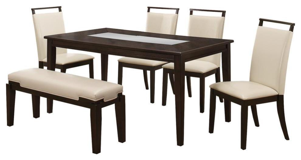 Harper 6 Piece Espresso Dining Room Set Transitional Dining Sets By Bisonoffice