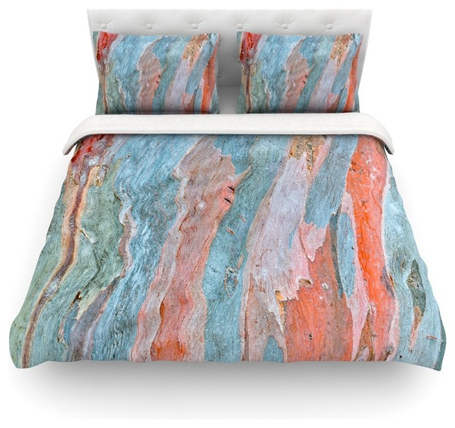 Susan Sanders Beach Dreams Orange Blue Duvet Cover Contemporary Covers And Sets By Kess Global Inc
