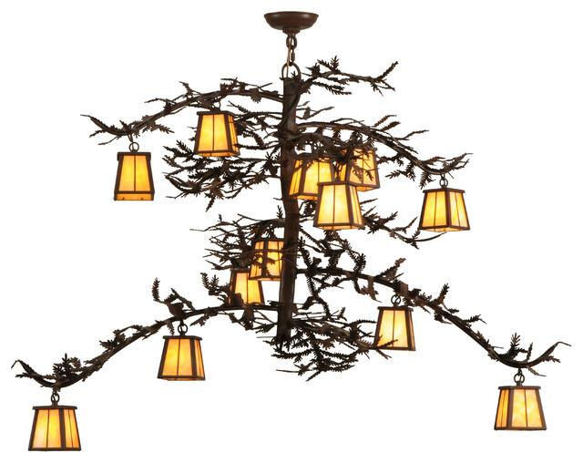 "50"" Pine Branch Valley View 12-Light Chandelier"